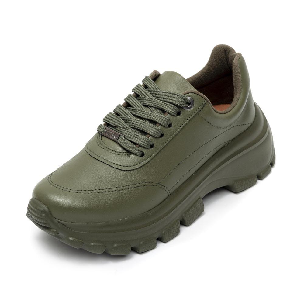 Tênis Vizzano Chunky Dad Sneaker Verde Militar